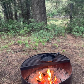 fire pit at the site
