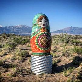 Artwork at Mystic Valley Sculpture Park