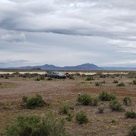Camp sites toward the playa