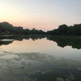 sun set across Lake 1