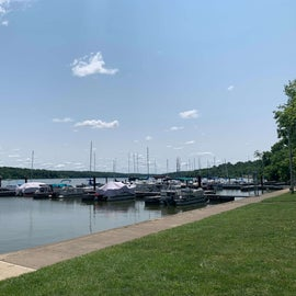 Marina. Watch for weekend sailboat races.