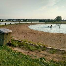swimming hole near fishing pond