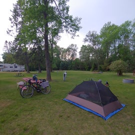 Electric tent site