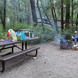 At the campsite