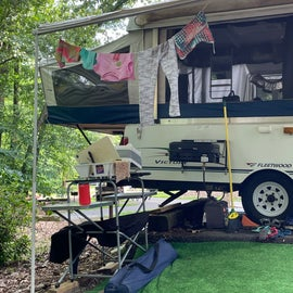 Really sloped campsite