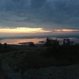 Sunrise at the highest point of Acadia National Park