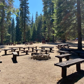 CAMPFIRES NOT ALLOWED 6/29/2021-11/30/2021   Lots of benches. That log was left behind by previous campers.