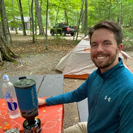 Jetboil in operation at Dry River
