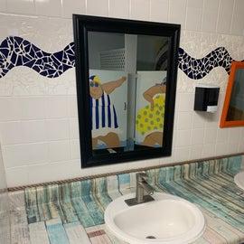clean & fun bathrooms