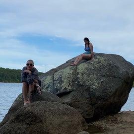 Cliff Pond beach rocks