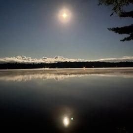 Moon over Fish Creek Pond