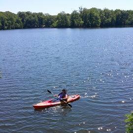 Kayaks for rent.