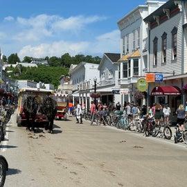 Mackinac island street scene
