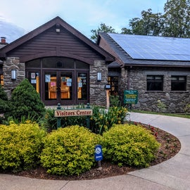 Check out the solar on that visitor's center roof!  Good on ya, New York State Parks!