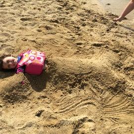 sandy beach playtime