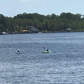 Kayakers on Rocky Bayou