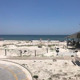 Gulf-side beach pavilion