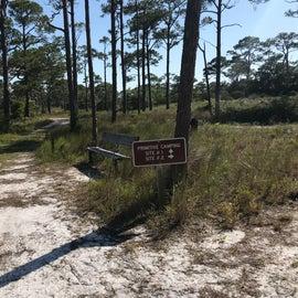 Primitive camp site marker