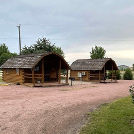 cabins at back of campground