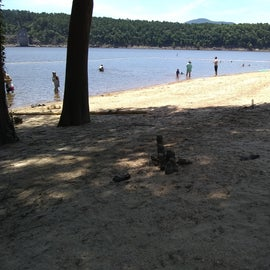 View along the swimming beach.