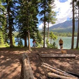 Great hiking around the lake.