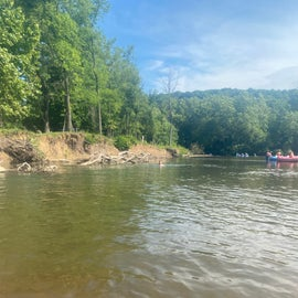 the float on the river