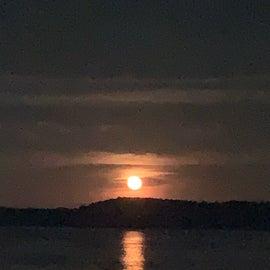 full moon rising, june 2021