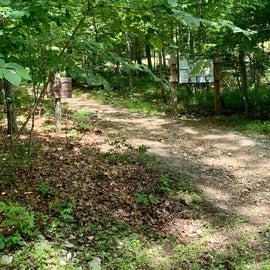 Trail head in Loop A White Oak