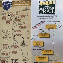 brew trail and wineries, cideries , distilleries map
