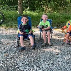 Grandkids loving the adventure.