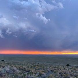 Amazing sunset after a crazy rainstorm