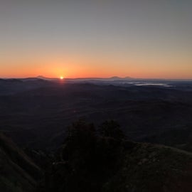 Sunrise from the top of saddle mountain