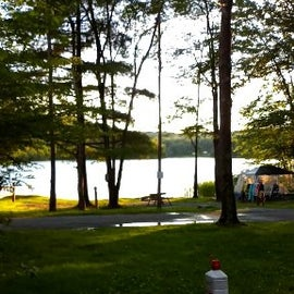 View of lake where we parked at camp site.