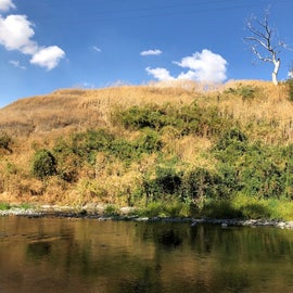 River runs through the campground