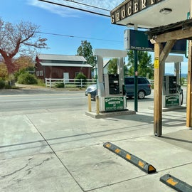 Nearby town of Sierraville has a small grocery/gas station. Diesel and gasoline. Signs advertise propane and gas available 24/7. Has a small selection of key groceries, and key supplies like ice, toilet paper, etc.