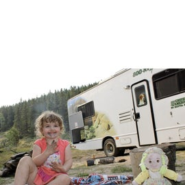 Our 32 foot RV and campsite