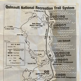 Hiking trail map of area