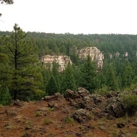 A short walk from the campground.  This area is popular with rock climbers