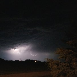 Lightening storm...clear views