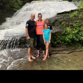 Campground waterfall