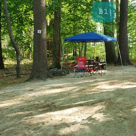 Tidewater Campground Site B1