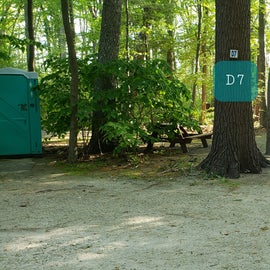 Tidewater Campground Site D7