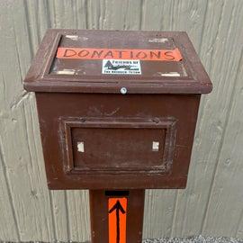 Donation box.