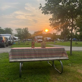 our campsite was not overly crowded