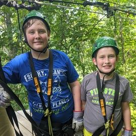 Excited to zip at pipestem.