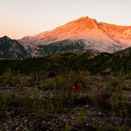 sunrise at Mt St Helens