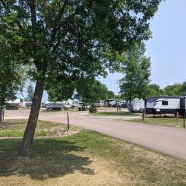 RV Campground on Lake Superior