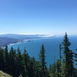 View from the top of Humbug Mountain.