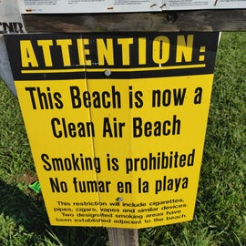 I really appreciated this as I hate finding cigarette butts in the sand or smoke in my space on the sand.