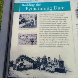 Building information about the region but they recently did an overhaul on the old building of the dam control house.